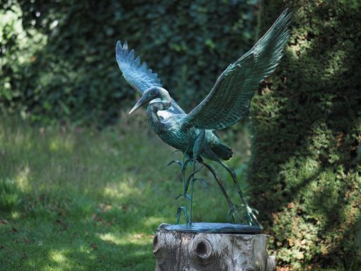 Heron Wingspread Solid Bronze Sculpture BI 89 1 | Avant Garden