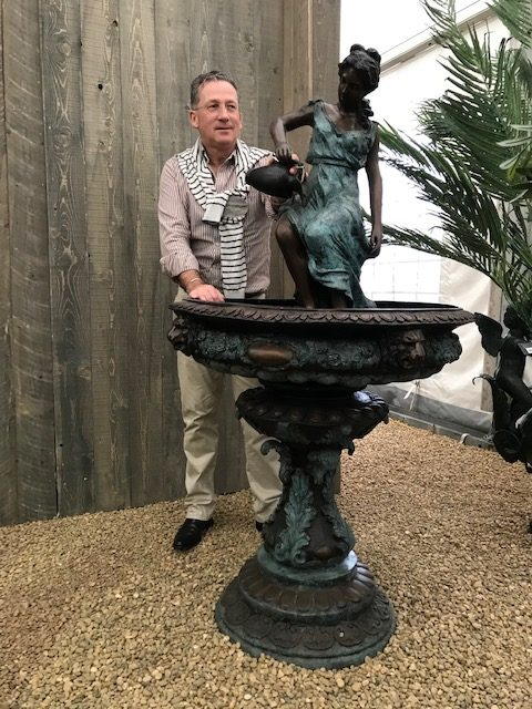 Classic Lady Sculpture Solid Bronze Fountain (2) | Avant Garden