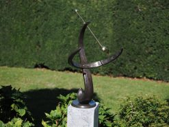 The Wave Armillary Sphere Sundial 90cm Solid Bronze Sculpture 1 | Avant Garden