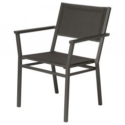 Equinox Carver Chair Graphite Frame Carbon Sling Powder Coated By Barlow Tyrie 1 | Avant Garden