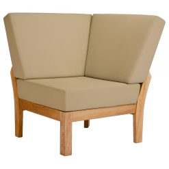 Haven Modular Corner Deep Seating Lounge Chair Solid Teak Waterproof Cushions by Barlow Tyrie 1 | Avant Garden