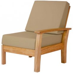 Haven Modular Left Deep Seating Solid Teak by Barlow Tyrie 1 | Avant Garden