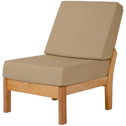 Haven Modular Centre Deep Seating Lounge Solid Teak Waterproof Cushions by Barlow Tyrie 1 | Avant Garden
