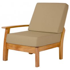 Haven Modular Right Deep Seating Lounge Chair Solid Teak Waterproof Cushions by Barlow Tyrie 1 | Avant Garden