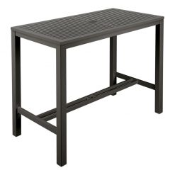 Aura 140 Graphite Aluminium High Dining Table by Barlow Tyrie 1 | Avant Garden