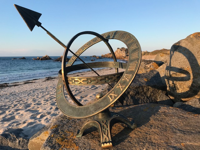Sundial At Sundown Fine Cast Solid Bronze Armillary Sphere 1 | Avant Garden