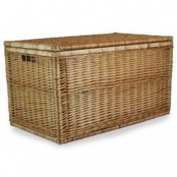 """Steamed Willow 36"""" Ex Large Linen Chest with Integral Handles"""