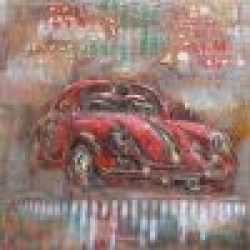 3D Metal Wall Art Sports Car Painting