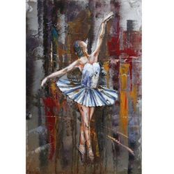 3D Metal Wall Art Ballerina Painting 1
