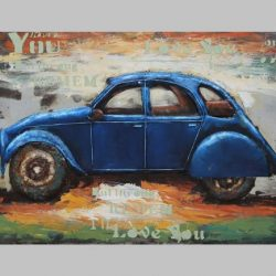 3D Metal Wall Art 2CV Painting 1