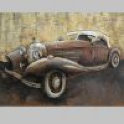 3D Metal Wall Art Old Timer Painting