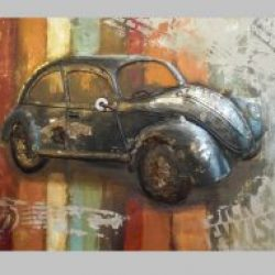 3D Metal Wall Art Beetle Painting