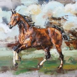 3D Metal Wall Art Horse Painting 1