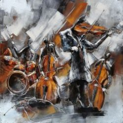 3D Metal Wall Art Jazz Painting