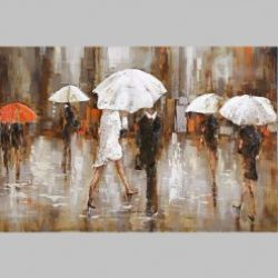 3D Metal Wall Art Umbrellas Painting
