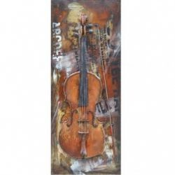 3D Metal Wall Art Violin Painting