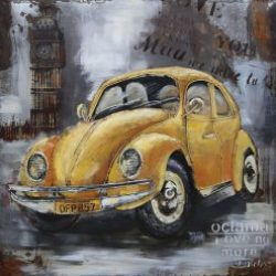 3D Metal Wall Art VW Painting