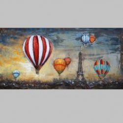 3D Metal Wall Art Balloons Painting