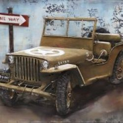 3D Metal Wall Art Willy Jeep Painting