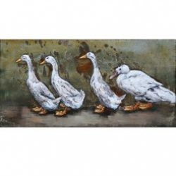 3D Metal Wall Art Ducks Painting