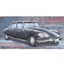 3D Metal Wall Art French Car Painting 1