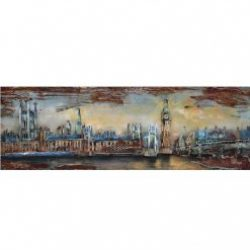 3D Metal Wall Art London Painting