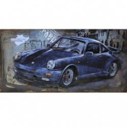 3D Metal Wall Art Porsche Painting