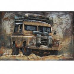 3D Metal Wall Art Jeep Painting