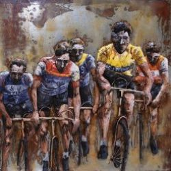 3D Metal Wall Art Tour de France Painting