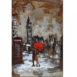 3D Metal Wall Art London 2 Painting