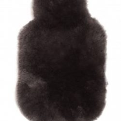 Luxurious Sheepskin Hot Water Bottle Cover Mole Long Wool Luxe