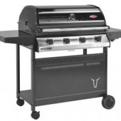 Beefeater Discovery 1000R Series 4 Burner BBQ & Cabinet Side Burner Trolley