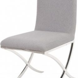 Linton Light Grey Upholstered Dining Chair Set of Six