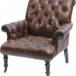 Fitzgerald Classic Button Back Vintage Leather Armchair