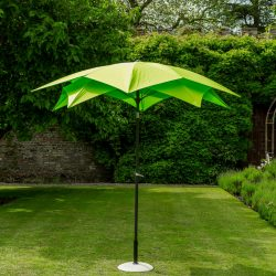 84603 Exotic Flower Style Umbrella 270cm Lime 1 Avant Garden Guernsey