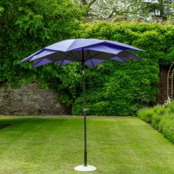 84604 Exotic Flower Style Umbrella 270cm Purple 1 Avant Garden Guernsey