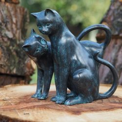 CA 15 Fine Cast Bronze Sculpture Cuddling Cats Two's Company | Avant Garden Guernsey