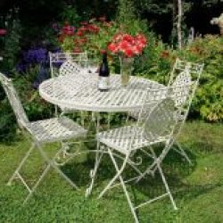 1xCR04 2xCR01 1m Dia Moselle 4 Seat Dining Suite French Style Lattice | Avant Garden Guernsey