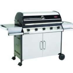 Beefeater Discovery 1000S Series 5 Burner Stainless Steel BBQ & Cabinet Side Burner Trolley