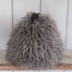 Luxurious Sheepskin Pewter Chairman Yetti Collection Doorstop