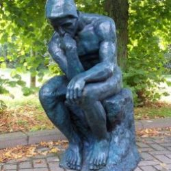 Bronze Sculpture Thinker (Rodin) Large