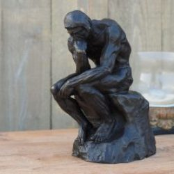 FIME 13 Fine Cast Bronze Sculpture The Thinker 29cm Rodin 2 | Avant Garden Guernsey