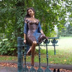 Bronze Sculpture Woman Sitting
