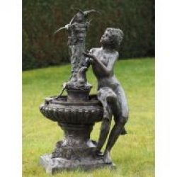 FO 70 Fine Cast Bronze Sculpture Lady sitting Fountain w Birds 1 | Avant Garden Guernsey