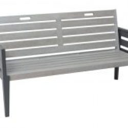 English Garden Range Three Seat Bench Set Greywash Grey