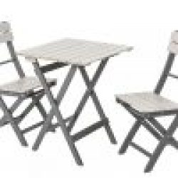 English Garden Range Bistro Set Greywash/Grey