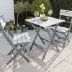 English Garden Range Bistro Set Greywash/Grey 2