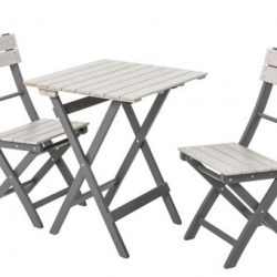 English Garden Range Bistro Set Greywash/Grey 1