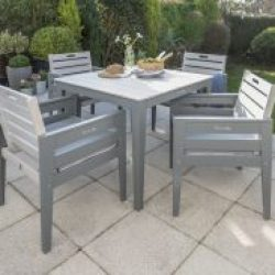 English Garden Range Dining Set Greywash/Grey