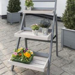 English Garden Range Folding Pot Shelf Greywash/Grey